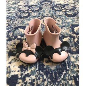 🔆 Mickey&Minnie Mini Melissa Rain boot